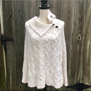 Free People Chunky Knit Side Button Sweater